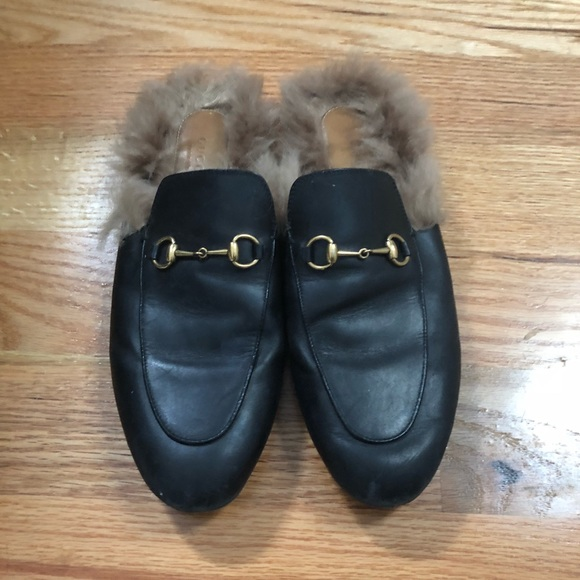 Gucci Shoes - Gucci Princetown mules with kangaroo fur. a5ddb8c9d87f